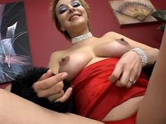 Pregnant beauty plays with pussy and sucks cock