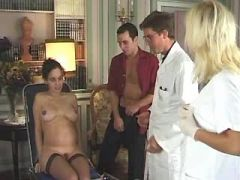 Lewd pregnant hottie fucks with guys in groupsex