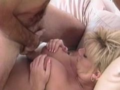 Pregnant mature gets cum on paunch after fuck