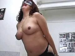 Preggo mature sucks numerous cocks