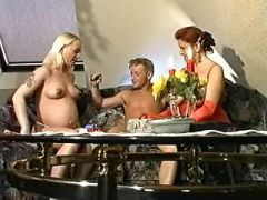 Swollen pregnant blonde crazy fucked in groupsex