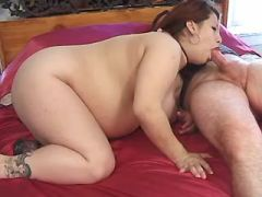 Latin pregnant girl hard fucks and get cum on tits