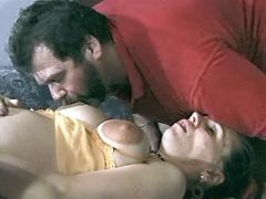 Lusty pregnant slut with big belly has fun in orgy