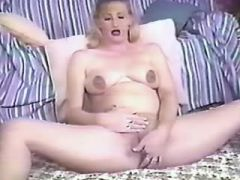 Man hard drills blonde pregnant mature in bed