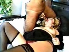 Curly pregnant mature with hairy pussy spoils man