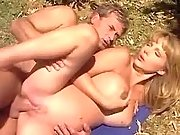 Titty preggo chick sexing in nature
