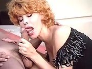 Beautiful pregnant mature gets cum