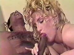 Pregnant blonde licked and fucked by black guy